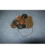 handmade button collage brooch - $9.00