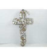 Gemstone Wall Cross Mother Of Pearl Citrine 7