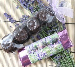 Lavender Chocolate Scented Glycerin Bar Soap Al... - $3.99