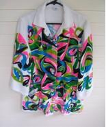 Vintage Pin-Up Terry Cloth Beach Jacket Coat - $22.99