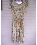 Rockabilly Dress - Gold/Brown/Green/Cream - Bus... - $14.99