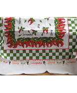 Table Cloth Large Rectangle Cotton Chili Pepper 