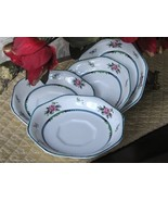 .19th Century 4 Plates Set Saucers Roses MADE I... - $31.00