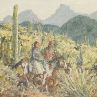 Honeymoon Trail Indian Painting Limited Edition Giclee Print by Gretchen Price