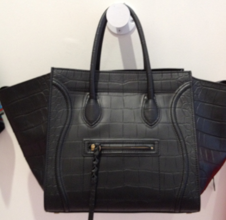 **NWT 2012 CELINE PHANTOM croc embossed black bag, luggage*** SOLD OUT*