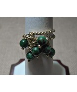 14k Solid Gold Dangle Rings Jade Rope Detail Cu... - $189.00