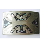 Vintage Mexico Buckle with Abalone Inlay - $10.00