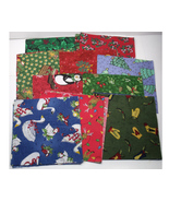 Christmas Print Charm Pack 5 X 5 Cotton Quilt S... - $13.99