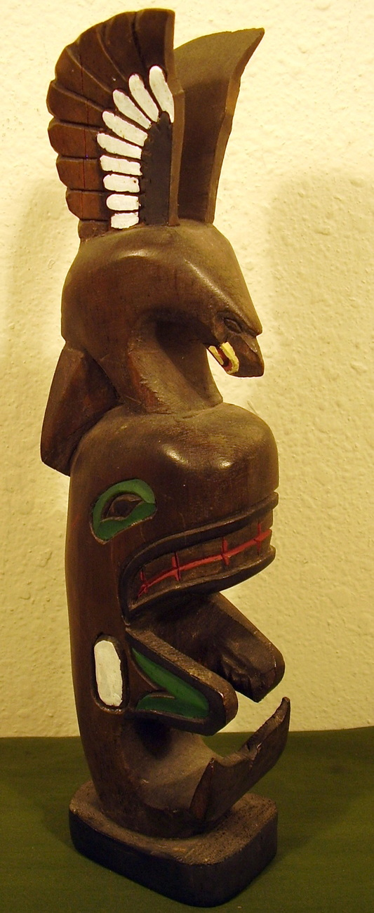 Small Totem Pole by Cicero August Cowichan Band BC