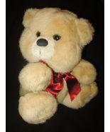 Walmart Teddy Bear Red Bow Plush Stuffed Animal... - $21.77