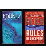 Dean Koontz and Christopher Reich PB Lot of 2 B... - $6.99