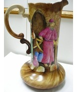 Beautiful Hand Painted Water Pitcher or Jug Old... - $375.00