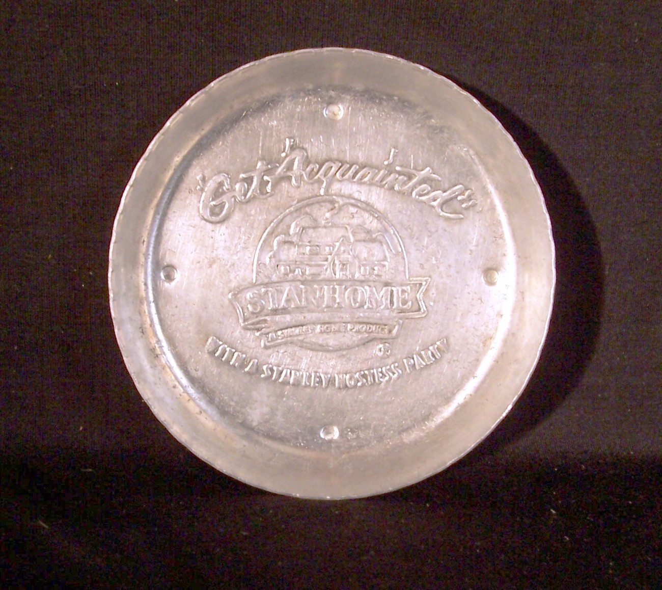 VINTAGE STANLEY HOME PRODUCTS STANHOME METAL COASTER