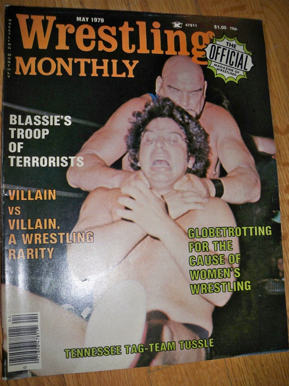 Wrestling Monthly May 1979 Magazine Judell DuLong Women Wrestling Freddie Blassi