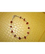 Carnelian red orange stones bracelet in jewelry... - $15.00