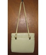 Another Y and S Original Cream Mesh Purse Handbag  - $21.99