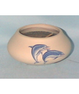 Collectible Clay Pot Blue Dolphins Decorative J... - $6.50