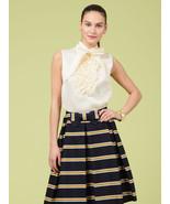 Kate Spade silk ruffle placket blouse porcelain... - $129.00