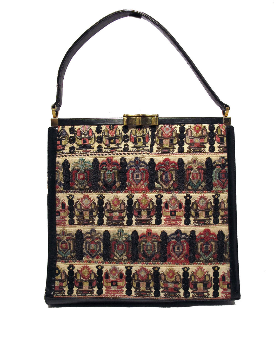 1960s Luxury Needlepoint Handbag
