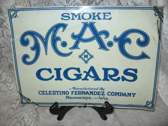 Tin Sign  MAC Cigars   Milw