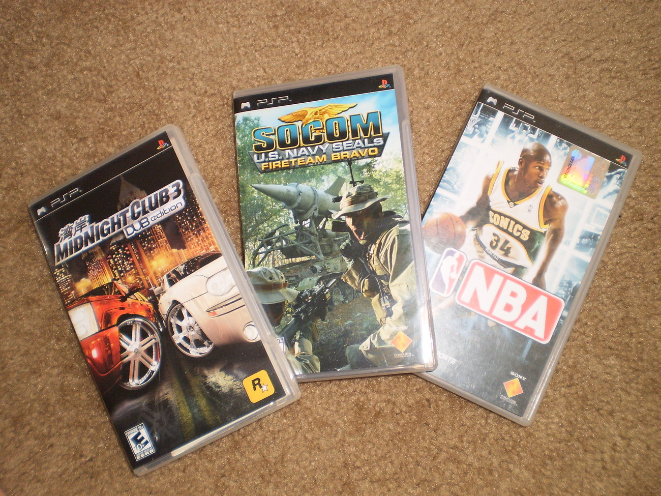 3 Used PSP Games Great Condition