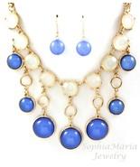 Adorable circular shape dangle charm necklace e... - $17.23