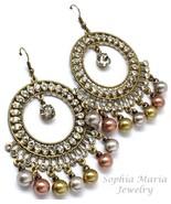Beautiful gypsy style tri tone big circular ear... - $13.85