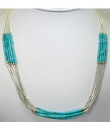 Southwestern Hand Crafted 5 Strand Turquoise st... - $183.49