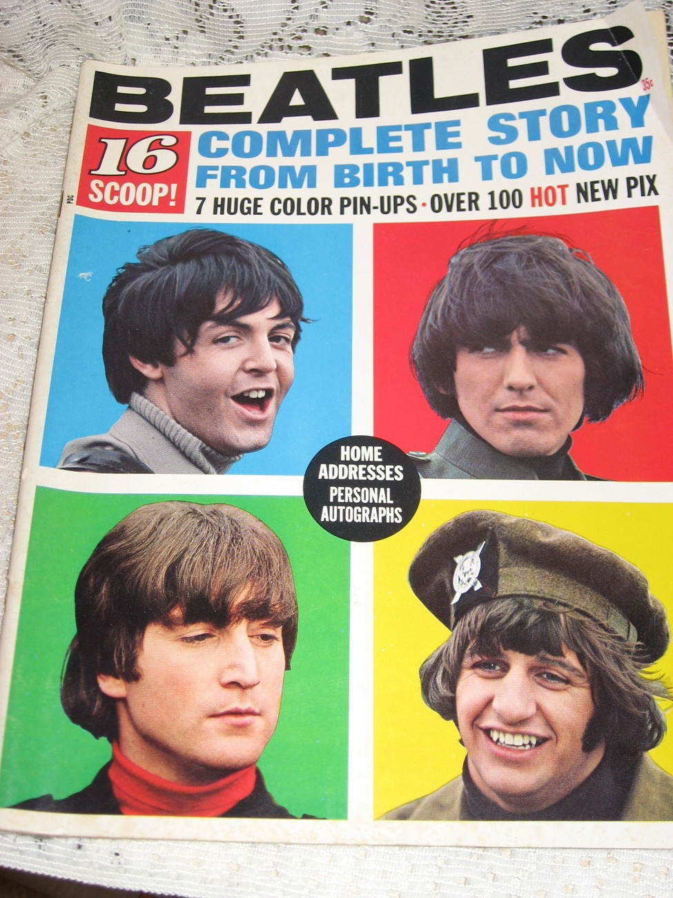 16 Magazine:Beatles Complete Story From Birth to Now 1965