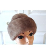 Vintage Gorgeous Light Fur Brown Mink Women Hat... - $82.27