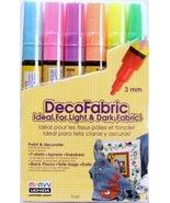 Marvy DecoFabric Fabric Marker Set (Fluorescent... - $9.95
