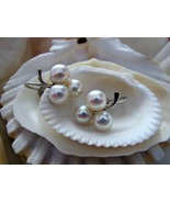 14k Pearl Earrings Clusters Screwbacks White Go... - $175.00