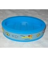 Disney Pluto The Dog Blue Plastic Oval Soap Dish - $9.99