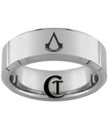 8mm Beveled Tungsten Carbide Assassins Creed De... - $49.00