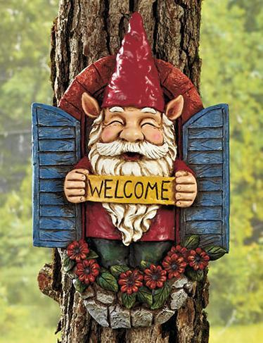 Image 0 of Gnome Tree Decor Welcome