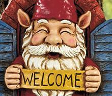 Image 1 of Gnome Tree Decor Welcome
