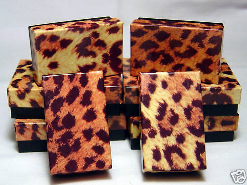 Jewelry Gift Boxes Leopard Print 2.5 x 1.5 x 7/8 (12)