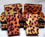 Buy jewelry gift boxes - Jewelry Gift Boxes Leopard Print 2.5 x 1.5 x 7/8 (12)