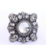 Victorian style clear crystal fashion stretch r... - $14.85