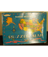 1959 Parker Brothers Puzzle Map Wood Pieces - $29.50