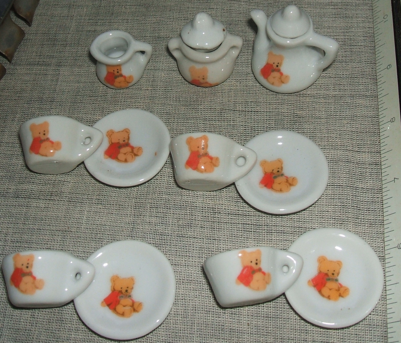 Miniature Teddy Bear Battat China Children's Pretend Play Tea Party 13-Piece Set