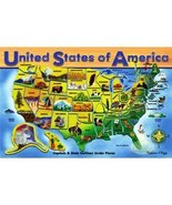 Melissa & Doug Deluxe Wooden USA Map Puzzle - $20.00