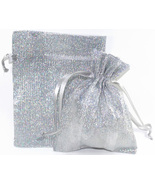 12 Jewelry Pouches Gift Bags Metallic Sparkle S... - $10.99