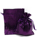12 Jewelry Pouches Gift Bags Metallic Sparkle P... - $12.99