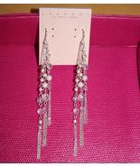 Laundry by Shelli Segal silver dangling chain e... - $29.99