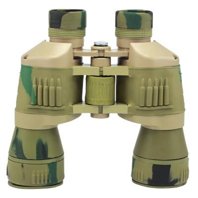 Desert Tan Green Camo Binoculars 20X50 Magnification Compass and Storage Case