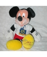 45 Years Of Magic Disneyland Large Plush Mickey... - $20.00
