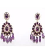 Kenneth J Lane KJL Purple Glass Fringe Dangle E... - $176.99