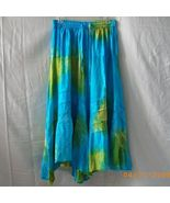 New Mamta blue and green handkerchief hem skirt... - $15.00