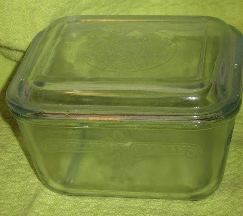 Fire King Square Refrigerator Dish-Anchor Hocking-1940&#39;s